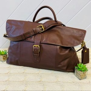 {Coach} Vintage Leather Weekend Travel Large Bag